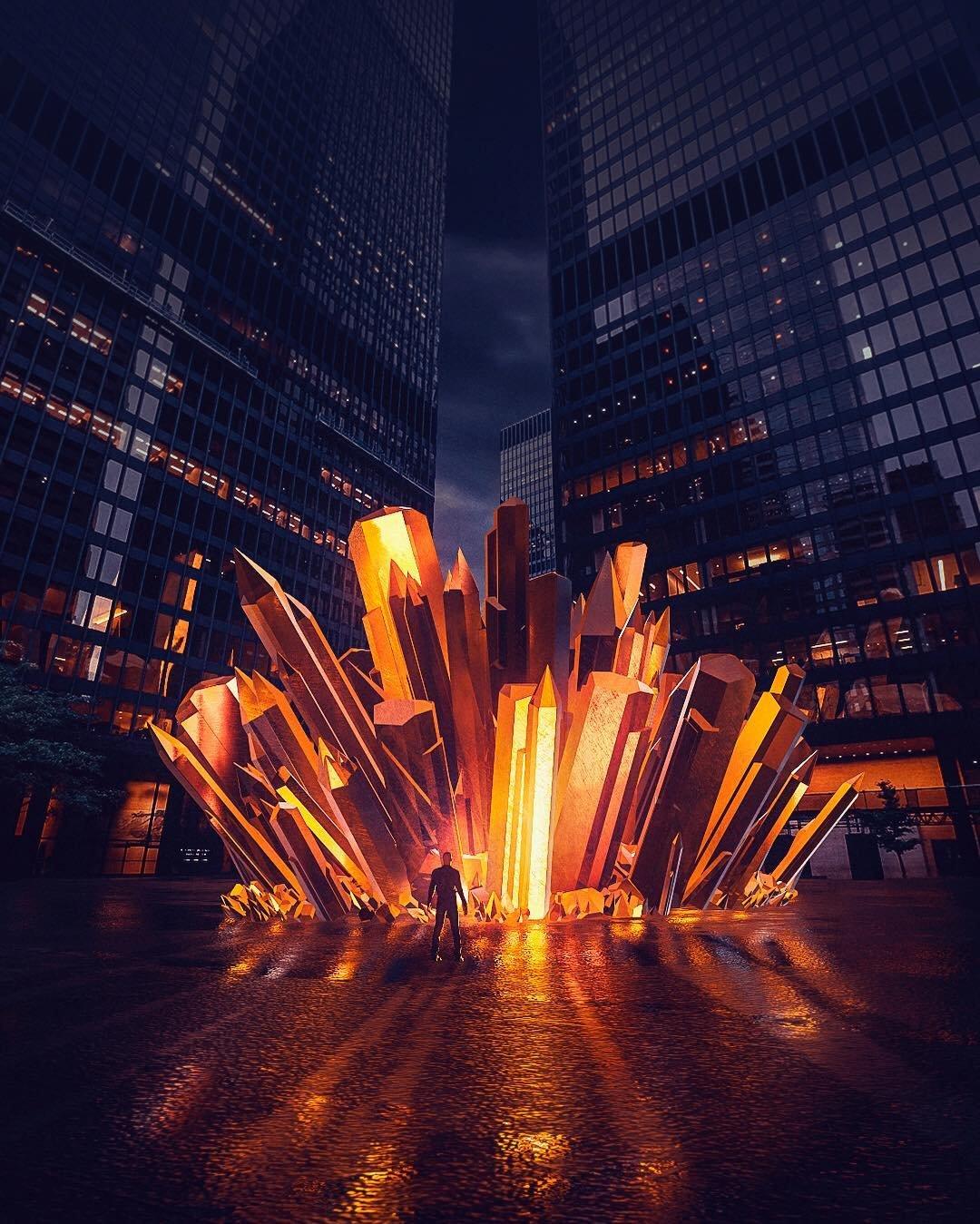 Удивительные киберпанковские и постапокалиптические урбанистические пейзажи