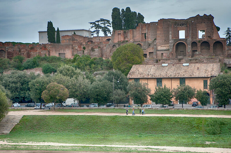 view on Imperial forum Rome
