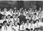 Ю. А. Гагарин на встрече с пионерами