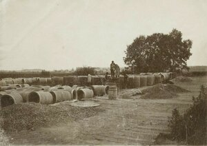 1907. Отливка бетонных колец на строительстве Ново-ткацкой фабрики
