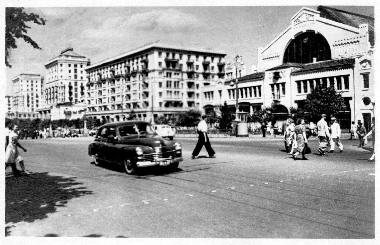 Города СССР. Киев. Крещатик. 1955 г.