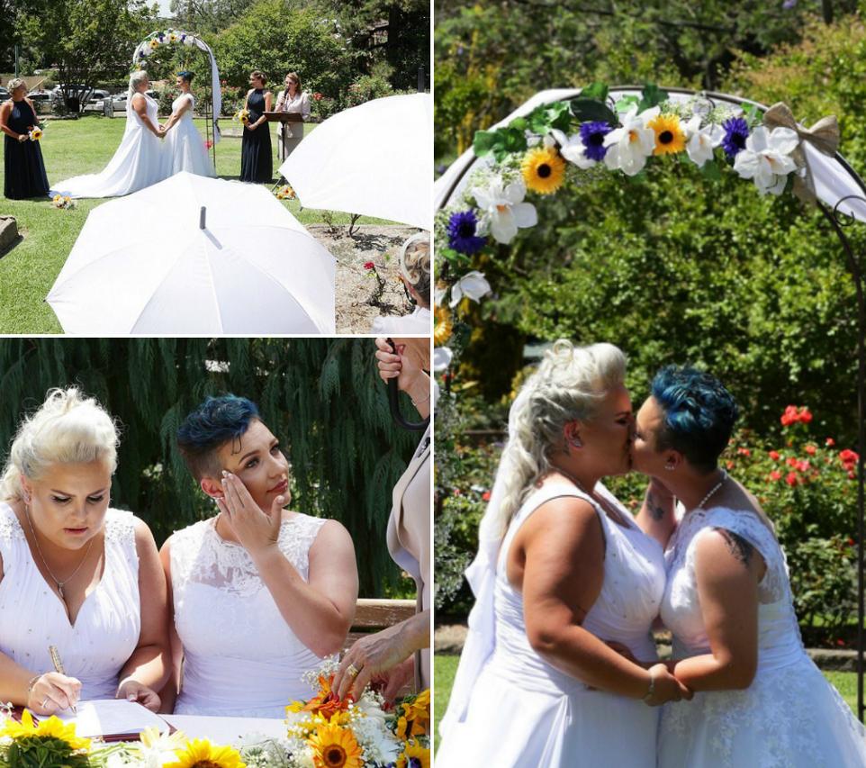Первая церемония бракосочетания лесбиянок прошла в Австралии