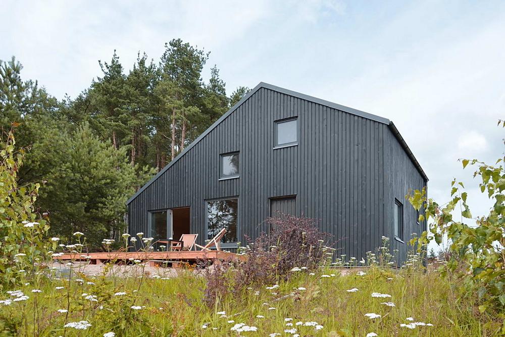 Дачный домик возле леса в Польше
