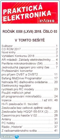 A Radio. Prakticka Elektronika №3 2018