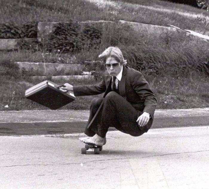 «Мой папа катается на скейтборде вГайд Скул, 1982 год».