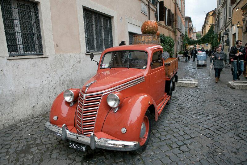 Restaurant Street Scene, Rome, Italy
