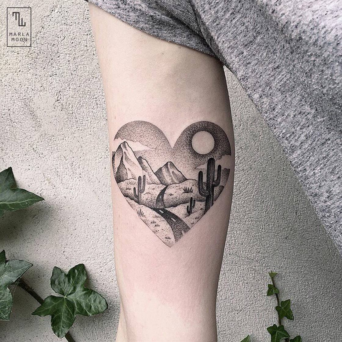 The beautiful tattoos of Marla Moon