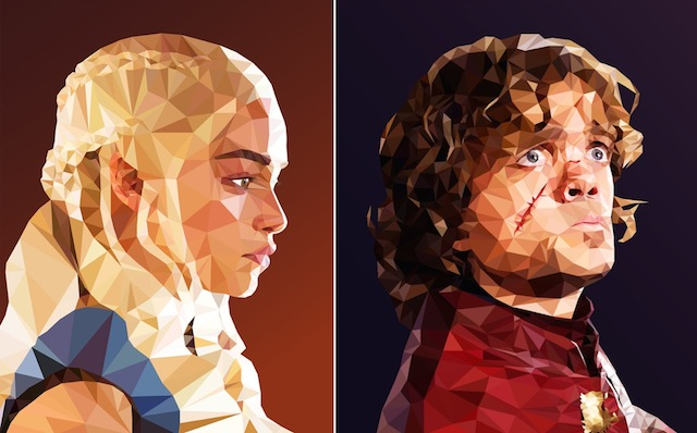 Low Poly Portraits of Characters from Game of Thrones (12 pics)