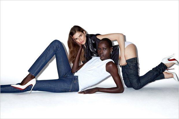 Girls, Girls, Girls: Ajak Deng & Linda Helena Pose for Claire Rothstein