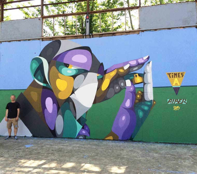 Street Art – The colorful portraits of ALBER