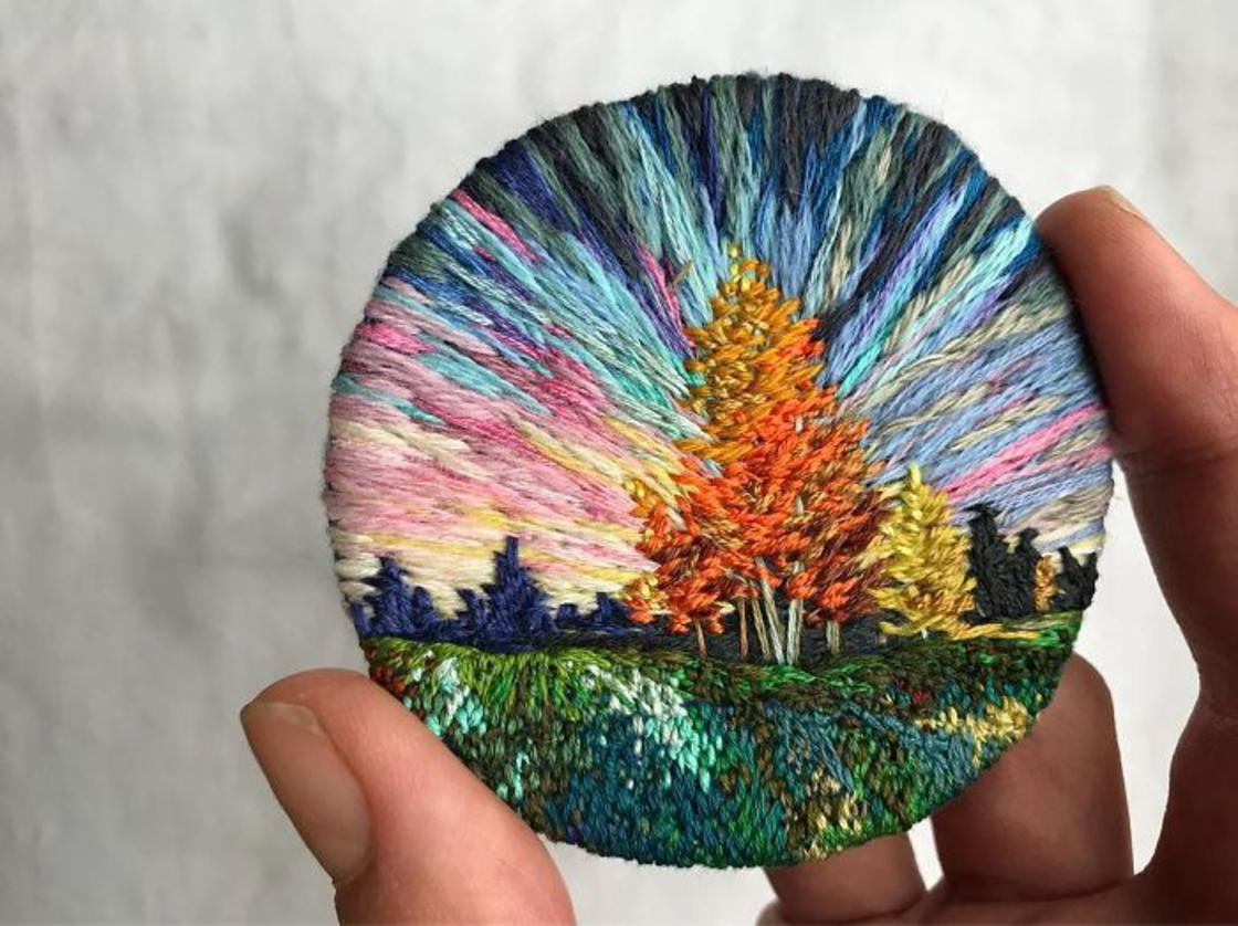 Colorful Landscapes – The impressive embroidery by Vera Shimunia (25 pics)
