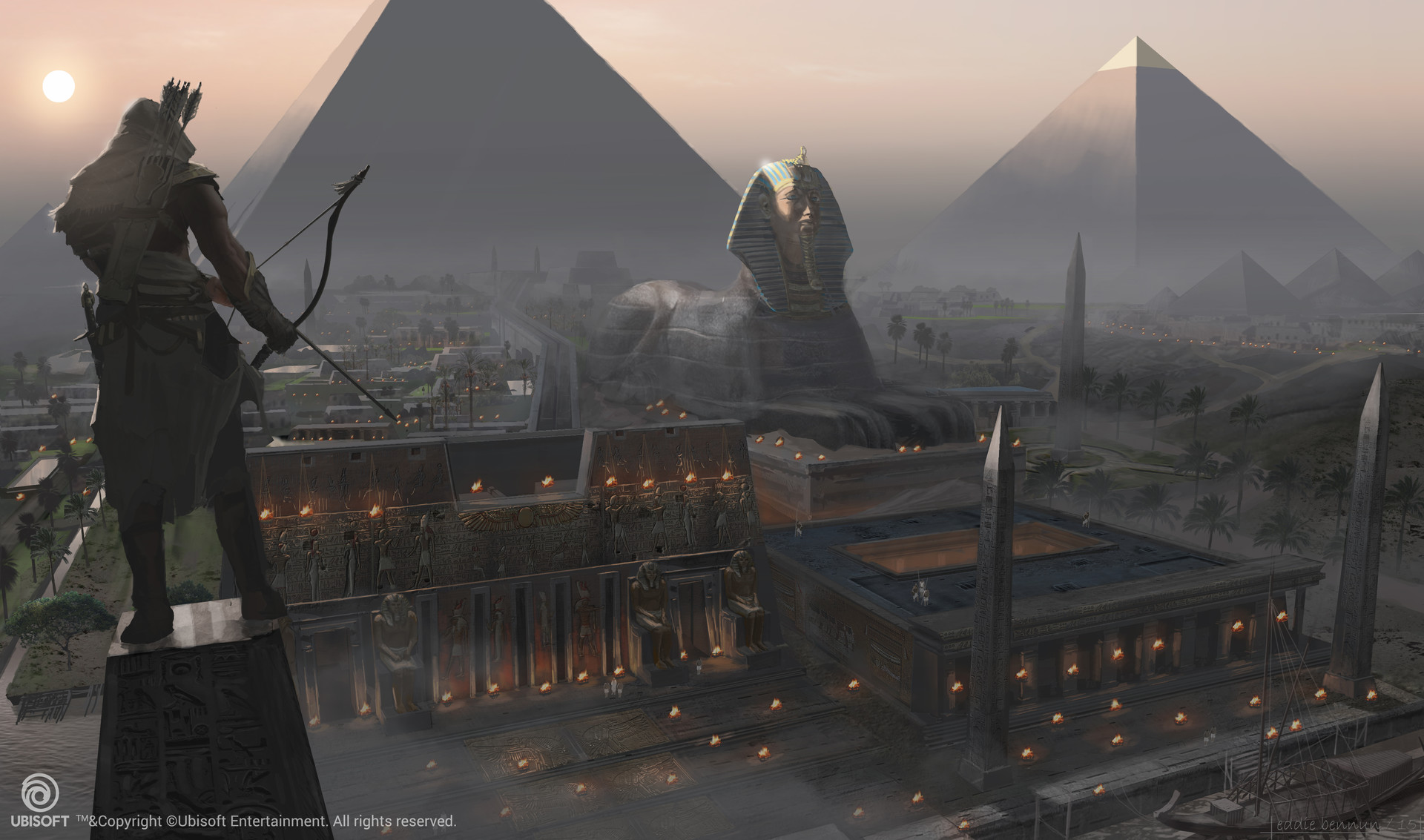 Assassin's Creed Origins Concept Art by Eddie Bennun