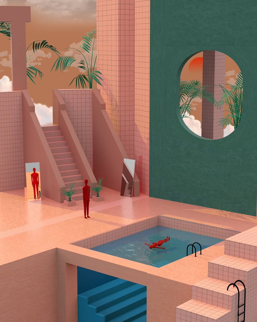 Surreal Illustrations Pushing The Boundaries Of Spatial Design