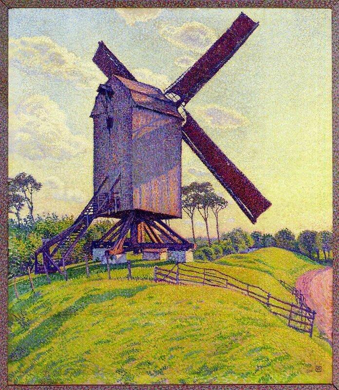 the-mill-at-kelf-1894.Theo van Rysselberghe.