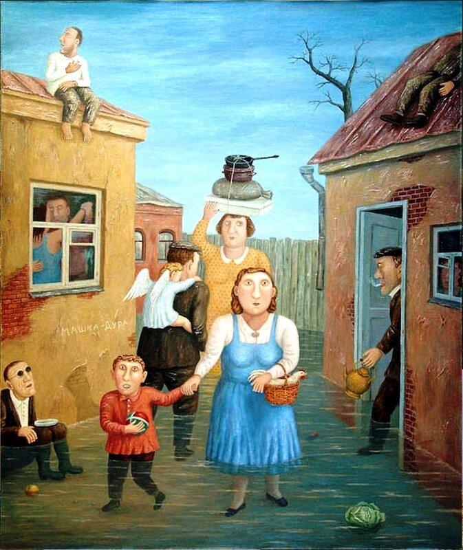 Переулок , 2005 год, художник Владимир Любаров.jpg