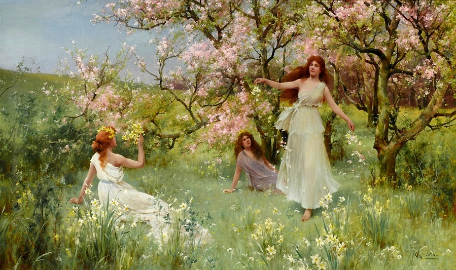 The first days of spring , 1896.