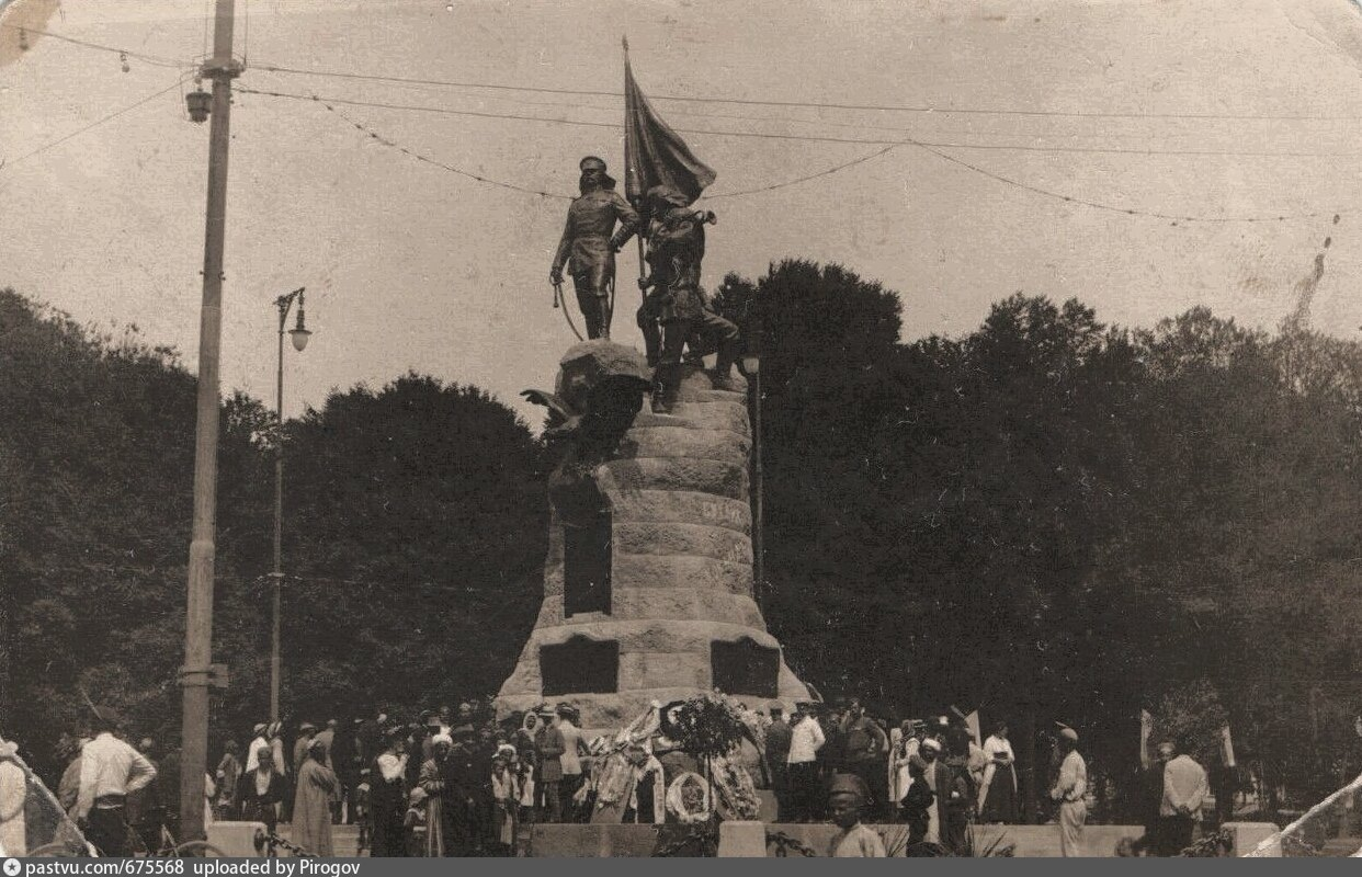 Открытие памятника К.П. фон Кауфману 4 мая 1913 года