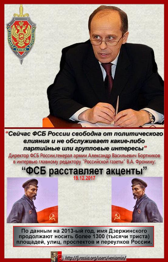 Сейчас ФСБ России свободна от политического влияния
