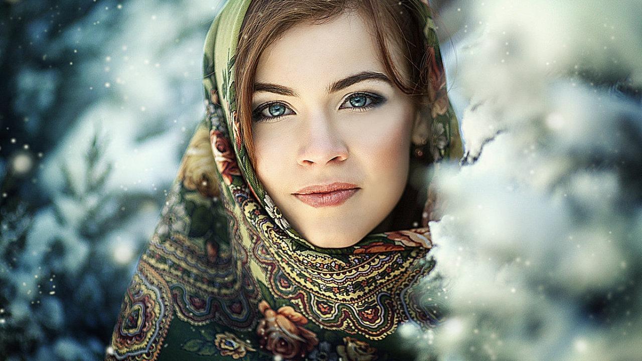 Русская девушка.