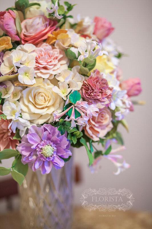 цветы и игрушки ручной работы из полимерных глин.