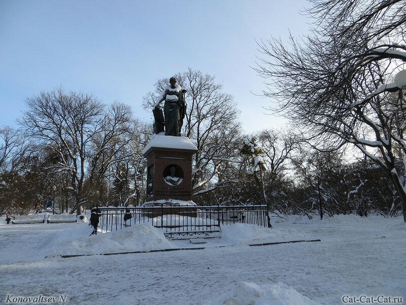 Памятник Карамзину, зима 2018