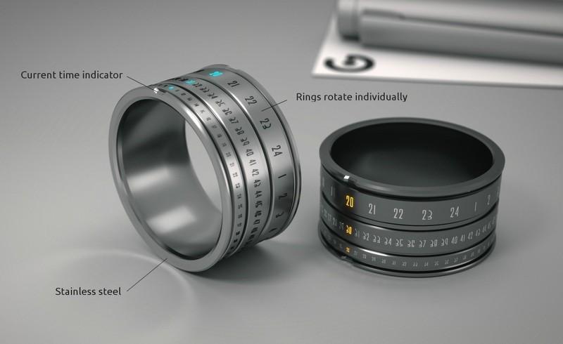 2. Кольцо-часы Оригинальное кольцо, которое показывает время.