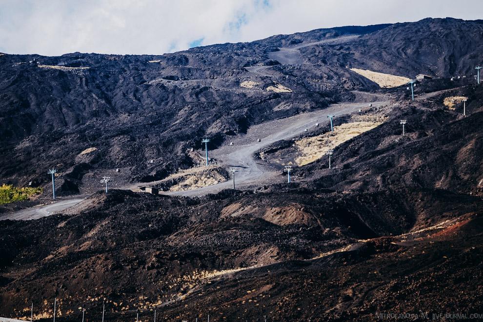 52. Вулканическая деятельность Этны началась примерно полмиллиона лет назад извержениями, происходив