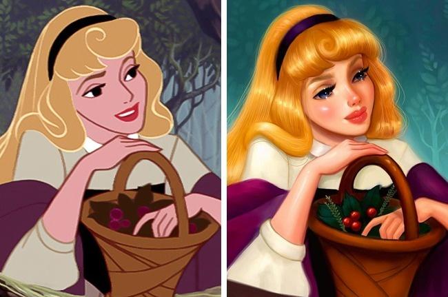 Художница показала, как выгляделибы диснеевские принцессы, еслибы ихрисовали сейчас (12 фото)