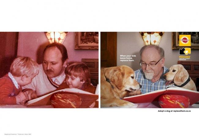 © replacethem     «Если ваши дети выросли, просто замените ихдомашними животными».