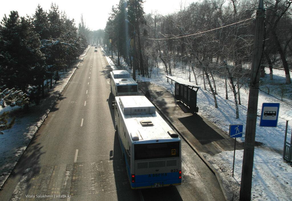 Автобусы на Суюнбая. Маршрут 2.