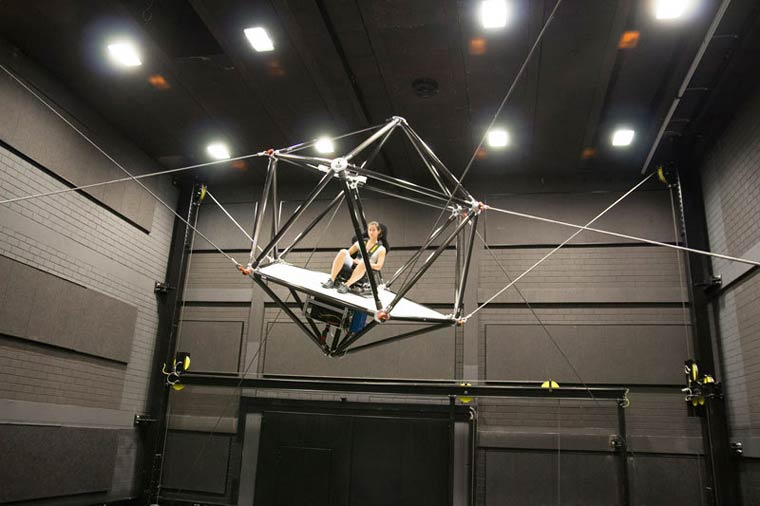 CableRobot VR – An impressive suspended system for virtual reality