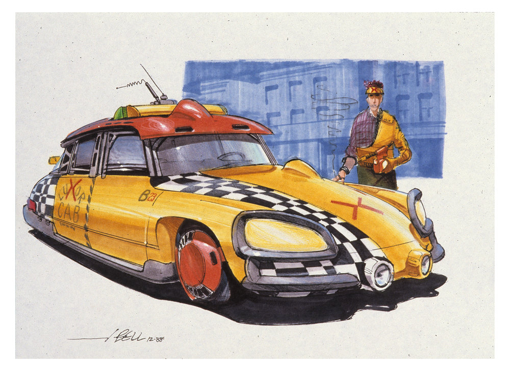 Back to the Future Part II Concept Art by John Bell