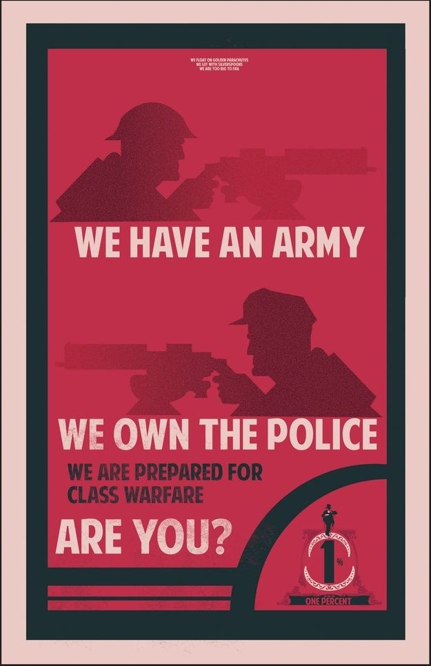 OccupyWallStreet Propaganda Posters - The One Percent - Fro Design Co