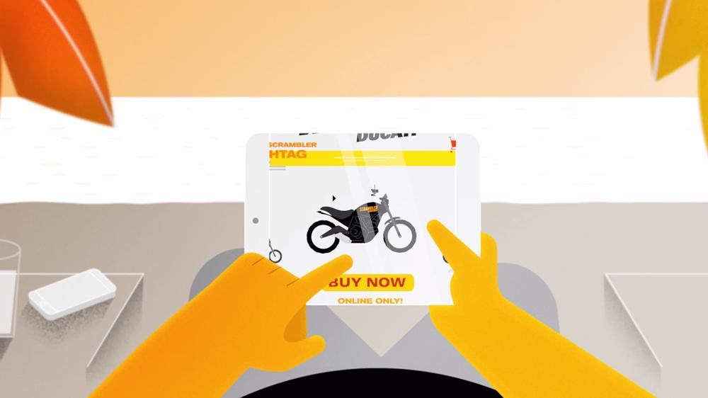 Мотоцикл Ducati Scrambler Hashtag Special (только онлайн покупка)