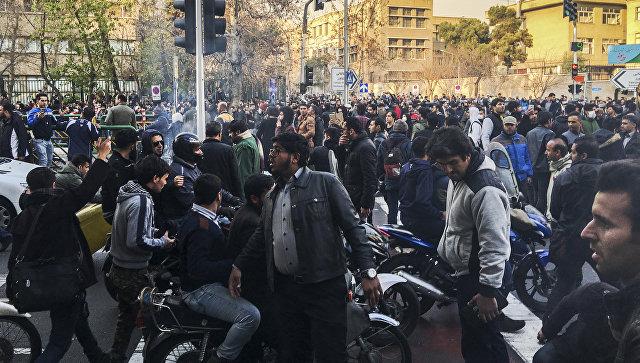 Протесты 30.12.2017 в Тегеране
