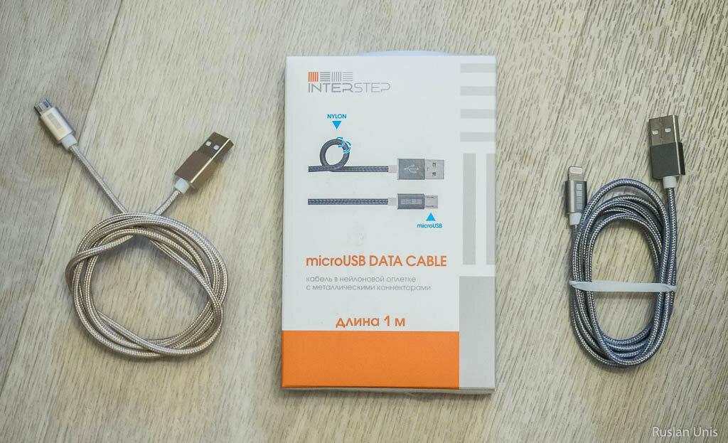 USB кабели Interstep в нейлоновой оплетке