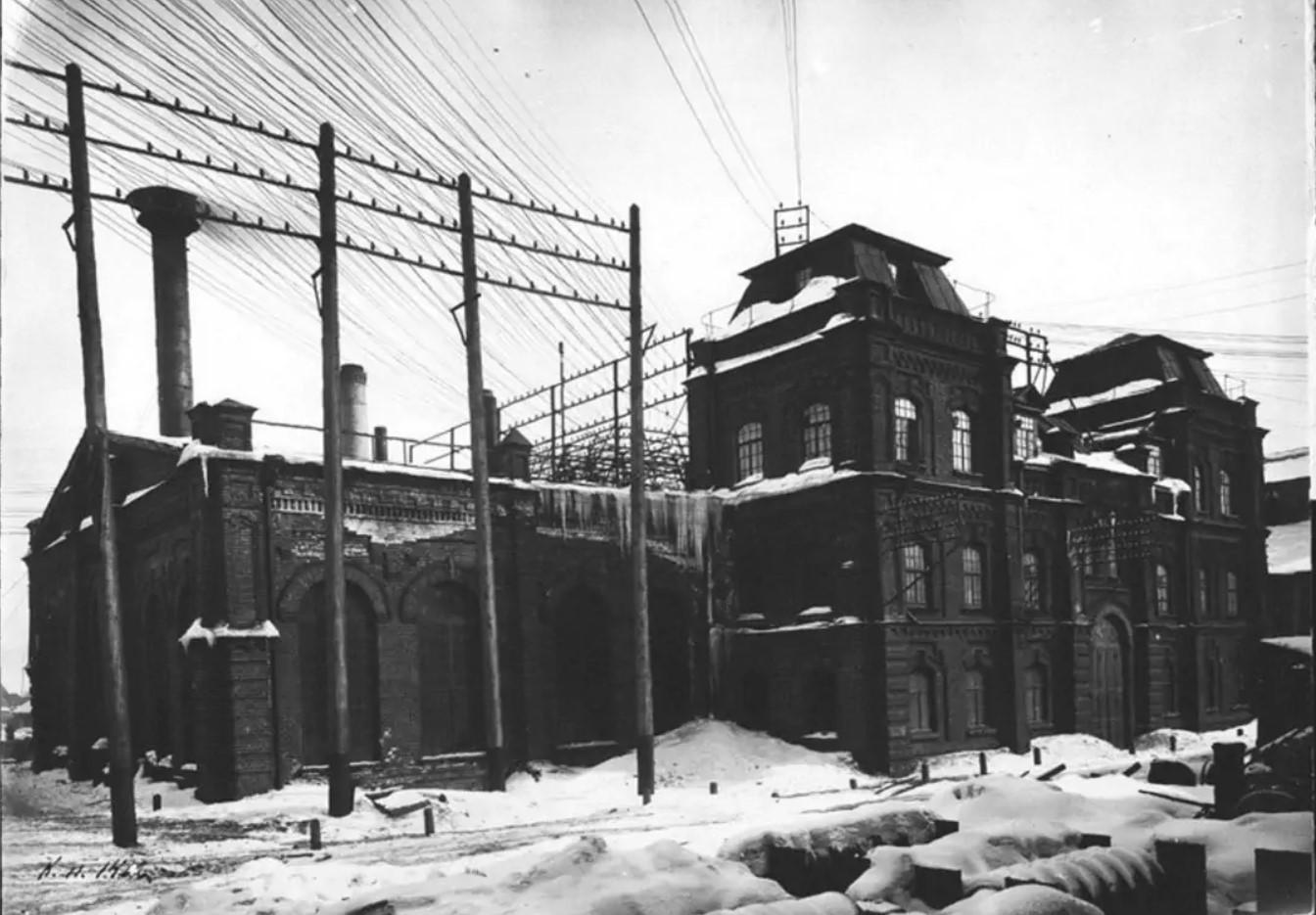 Внешний вид электрической станции в Сормово