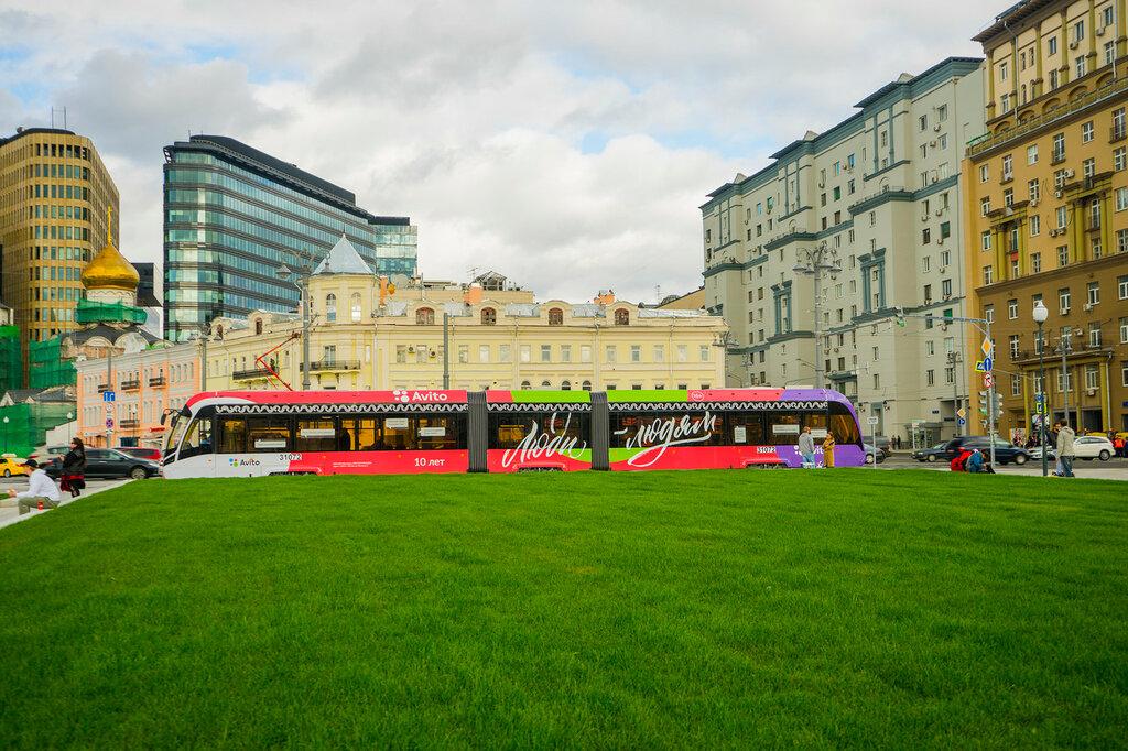Трамвай у Белорусского вокзала