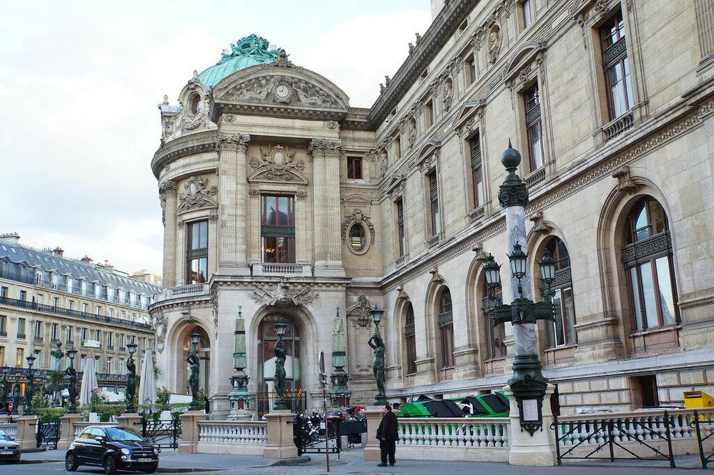 Опера Гарнье - боковой фасад