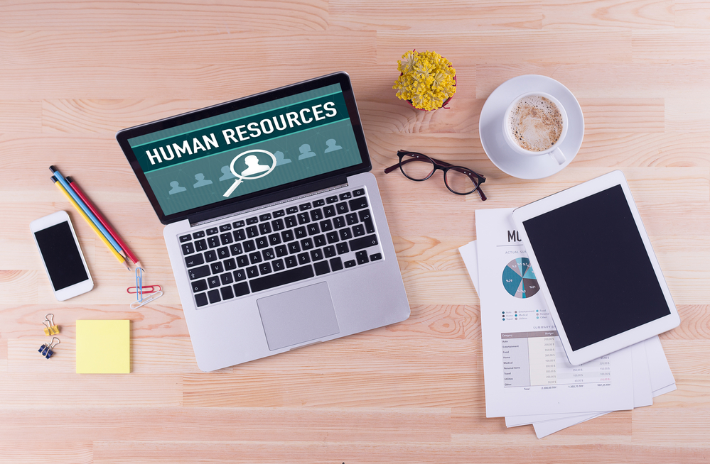 Business desk concept - HUMAN RESOURCES