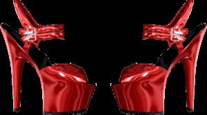 красные босоножки