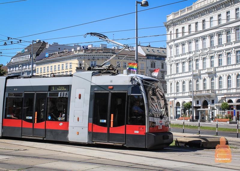 Добраться до Карлскирхе можно на трамвае