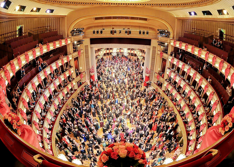 Зал оперного театра Вены