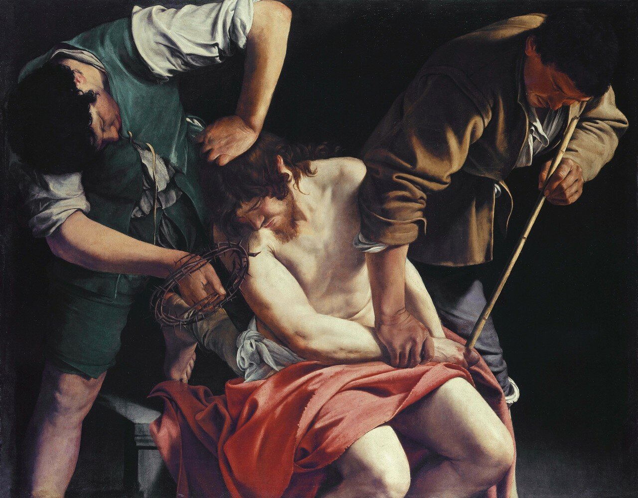 Christ being crowned with thorns, by Orazio Gentileschi