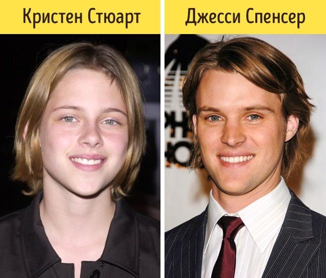 18дожути похожих знаменитостей, которые выглядят как родственники (18 фото)