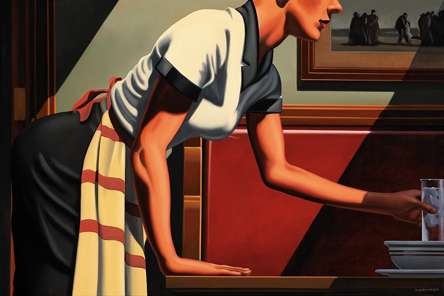 Современная ретро-живопись Кентона Нельсона (12 фото)