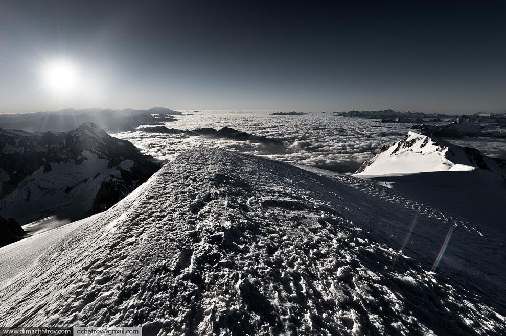 Вершина горы Монблан:
