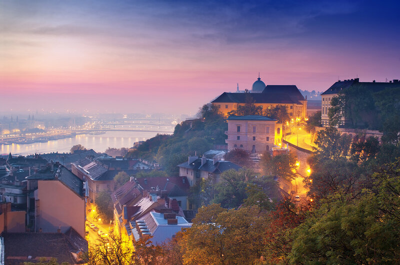 Заход солнца в Будапеште