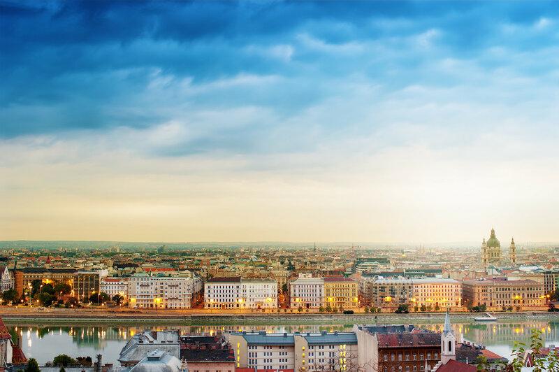 Венгрия, Будапешт, Дунай на рассвете