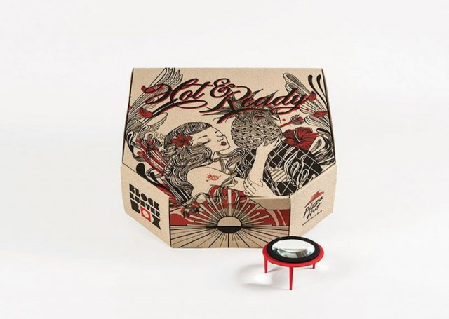 A Pizza Hut Box Turned Into a Movie Projector